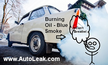 Burning Oil Causes Blue Smoke From Exhaust