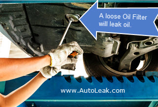Car Leaking Oil After Oil Change, Looser Oil Filter Leak